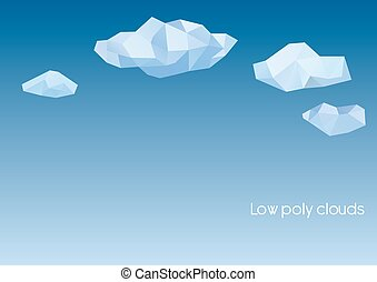 Abstract clouds in polygonal style