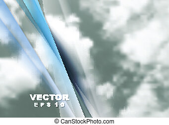 Abstract cloudy sky vector background