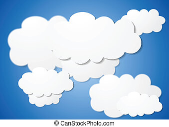 Abstract cloudy vector background