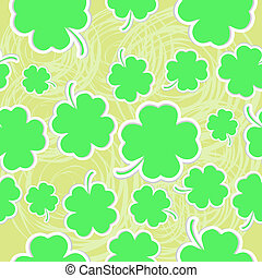 Abstract clover seamless background