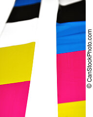 Abstract CMYK colors