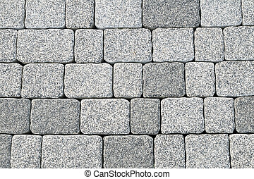 Abstract cobblestone pavement texture background