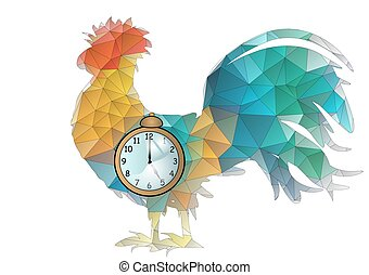 abstract cock and clock