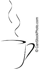 abstract coffee - Abstract vector drawing of a cup of coffee...