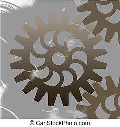 illustration of abstract cogwheel background