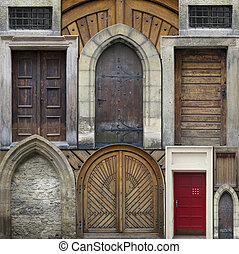 Abstract collage - old doors