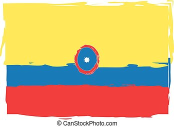 abstract COLOMBIA flag or banner