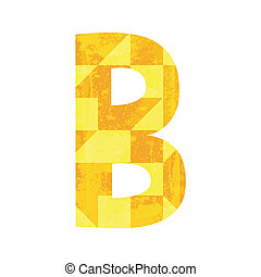Abstract color alphabet B