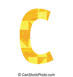 Abstract color alphabet C