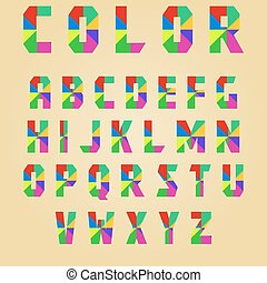 abstract color alphabet