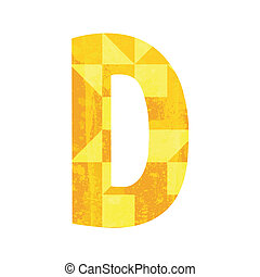 Abstract color alphabet D