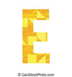 Abstract color alphabet E