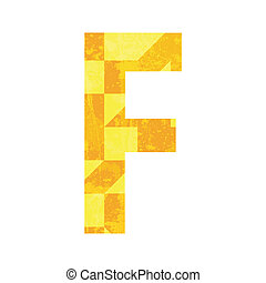 Abstract color alphabet F
