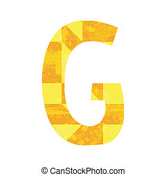 Abstract color alphabet G