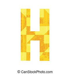 Abstract color alphabet H