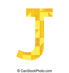 Abstract color alphabet J