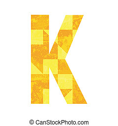 Abstract color alphabet K