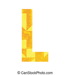 Abstract color alphabet L