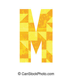 Abstract color alphabet M