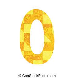 Abstract color alphabet O