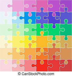 Abstract color Background icon Illustration jigsaw puzzle.