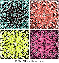 abstract color background in a retro style