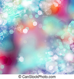 Abstract color background with blurred circles in pink, white and blue
