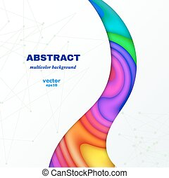 Abstract color background with place for text. Vector illustration