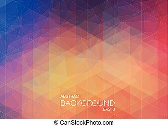 Abstract color background with triangle shapes