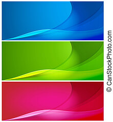 Abstract color backgrounds - Set of vector abstract color...