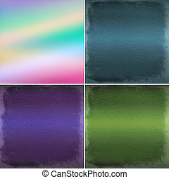 Abstract color backgrounds with dots