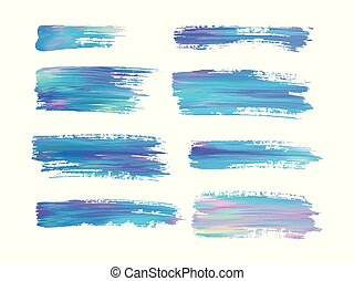 Abstract color brush strokes isolated on white, creative illustration, fashion background. Vector