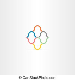 abstract color business logo vector element