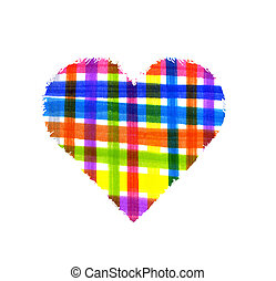 Abstract color cell pattern heart