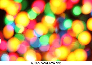 abstract color christmas lights