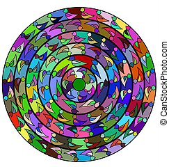 abstract color circle - abstract colored image of circle...