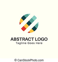 abstract color circle logo