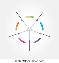 abstract color circle with arrows