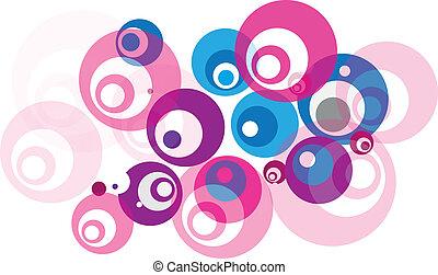 Abstract color circles