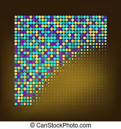 Abstract Color Dots Background