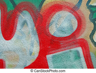 abstract color graffiti, painted stone background closeup