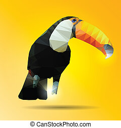 Abstract color hornbill of background