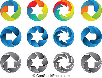 Abstract color icon set