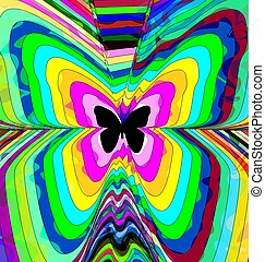 abstract color image of butterfly