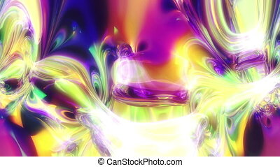 abstract color ink