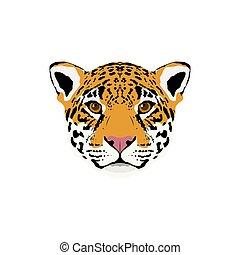 Abstract color jaguar head.