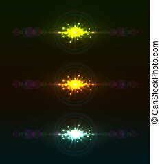 Abstract color light flare vector template.