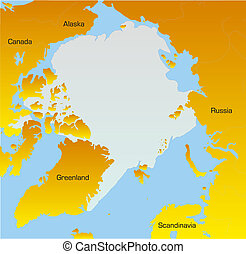 map of North pole