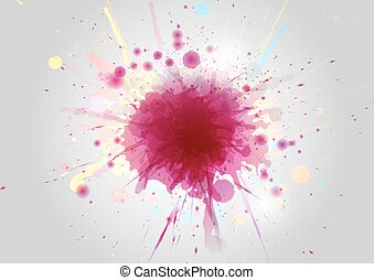 Abstract Color paint splashes on abstract background