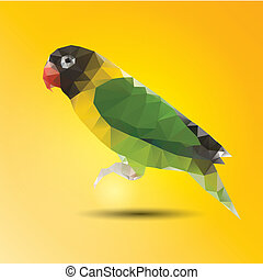 Abstract color parrot of background